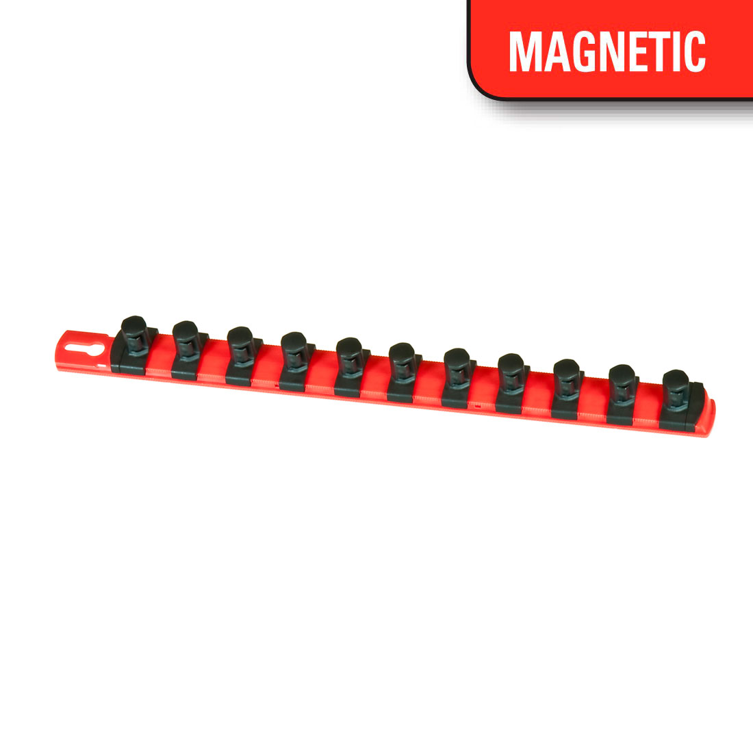 13-Inch Red Ernst Manufacturing Socket Boss 2-Rail 1//4-Inch-Drive Socket Organizer