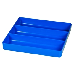 5022 Three Compartment Organizer Tray-Blue