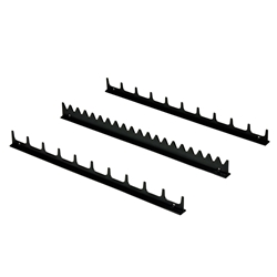 6011 20 Tool Screwdriver Rail Set - Black