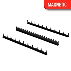 6011M 20 Tool Screwdriver Rail Set W/Magnetic Tape - Black