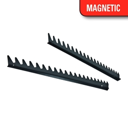 6013M 20 Tool Wrench Rail Organizers - Black - Magnetic Tape