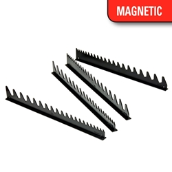 6015M 40 Tool SPACE SAVER Wrench Rail Organizers - Black - Magnetic Tape