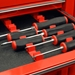 "6060 44 Tool Combo Pack ""No Slip"" Low Profile Wrench And Screwdriver Sets - Red - 6060"