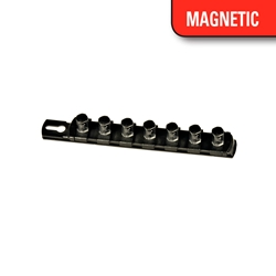 "8"" Magnetic Socket Organizer w/Twist Lock Clips - Black socket holders organizers, best socket organizer, socket set organizer, tool box socket organizers, magnetic socket organizer, tool socket organizer, socket tray organizer, socket organization, socket rail organizer, snap on socket organizer, socket organizer diy, socket holder, magnetic socket holder, socket holders, magnetic socket holders, snap on socket holder, socket set holder, best socket holder, plastic socket holder, socket holder magnetic, socket holder rail, ernst socket rails, magnetic socket rail, socket rails, socket rail, rails socket, socket rails and clips, best socket rails, ernst socket organizer, socket storage, twist lock, twistlock, twist socket, twist socket set, socket lock, lock a socket, snap on socket set"