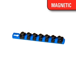 "8"" Magnetic Socket Organizer w/Twist Lock Clips - Blue socket holders organizers, best socket organizer, socket set organizer, tool box socket organizers, magnetic socket organizer, tool socket organizer, socket tray organizer, socket organization, socket rail organizer, snap on socket organizer, socket organizer diy, socket holder, magnetic socket holder, socket holders, magnetic socket holders, snap on socket holder, socket set holder, best socket holder, plastic socket holder, socket holder magnetic, socket holder rail, ernst socket rails, magnetic socket rail, socket rails, socket rail, rails socket, socket rails and clips, best socket rails, ernst socket organizer, socket storage, twist lock, twistlock, twist socket, twist socket set, socket lock, lock a socket, snap on socket set"