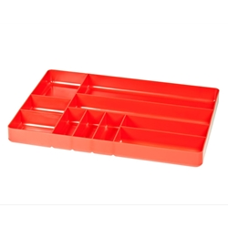 5010 Ten Compartment Organizer Tray-Red