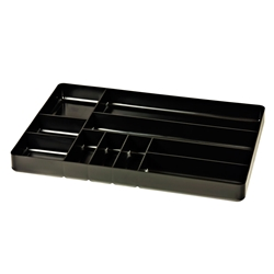 5011 Ten Compartment Organizer Tray-Black