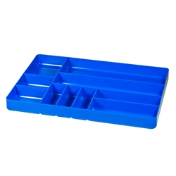5012 Ten Compartment Organizer Tray-Blue