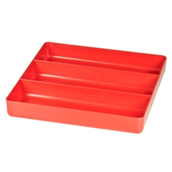 5020 Three Compartment Organizer Tray-Red