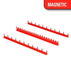 6010M 20 Tool Screwdriver Rail Set w/Magnetic Tape - Red