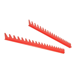 6012 20 Tool Wrench Rail Organizers - Red