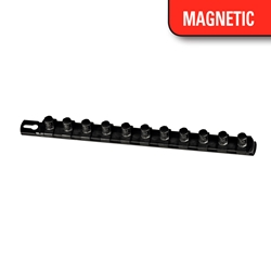 "13"" Magnetic Socket Organizer w/Twist Lock Clips - Black socket holders organizers, best socket organizer, socket set organizer, tool box socket organizers, magnetic socket organizer, tool socket organizer, socket tray organizer, socket organization, socket rail organizer, snap on socket organizer, socket organizer diy, socket holder, magnetic socket holder, socket holders, magnetic socket holders, snap on socket holder, socket set holder, best socket holder, plastic socket holder, socket holder magnetic, socket holder rail, ernst socket rails, magnetic socket rail, socket rails, socket rail, rails socket, socket rails and clips, best socket rails, ernst socket organizer, socket storage, twist lock, twistlock, twist socket, twist socket set, socket lock, lock a socket, snap on socket set"