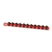 "13"" Socket Organizer w/Twist Lock Clips - Red -"