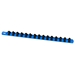"18"" Socket Organizer w/ (15) Twist Lock Clips - Blue -"