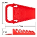 5044 GRIPPER Wrench Organizers-Red - 6 Tool - 5044