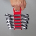 5070 GRIPPER Stubby Wrench Organizers-Red - 5 Tool - 5070