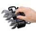 5077 GRIPPER Stubby Wrench Organizers-Black - 11 Tool - 5077