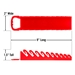 5074 GRIPPER Stubby Wrench Organizers-Red - 10 Tool - 5074