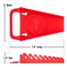 5084 GRIPPER Wrench Organizers-Red - 9 Tool - 5084