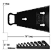 5147 GRIPPER Reverse Wrench Organizer-Black - 8 Tool - 5147
