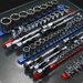 "8"" Socket Organizer w/Twist Lock Clips - Blue  -"