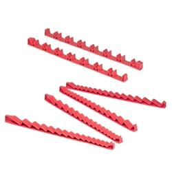 "6060 44 Tool Combo Pack ""No Slip"" Low Profile Wrench And Screwdriver Sets - Red"